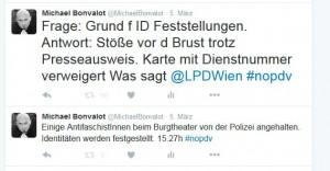 Mein Beschwerde-Tweet an die LPD Wien