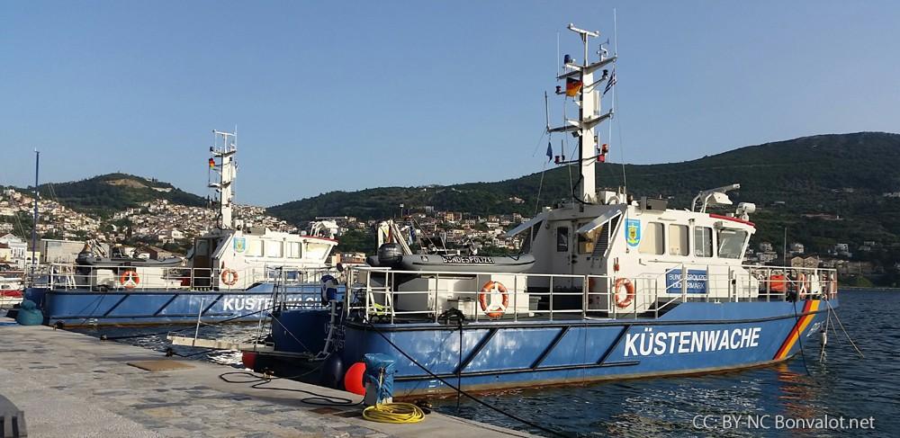 Deutsche Küstenwache auf Samos. Bild: Michael Bonvalot
